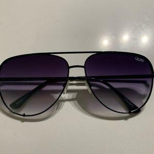 Quay High Key Sunglasses in Black Fade